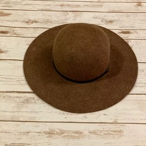 Brown Wool Boho Floppy Hat